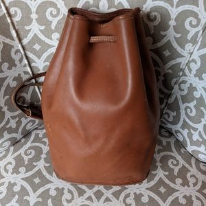 Coach bucket backpack